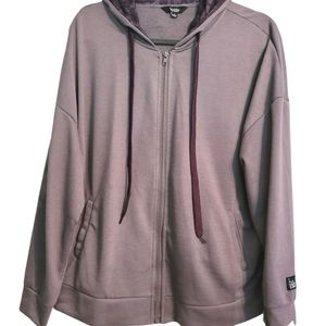 Nicole Miller Sport Zip Up Purple Hoodie